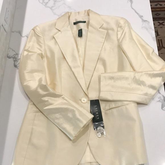 cba83044a01 Ralph Lauren Jackets & Coats | New Cream Silk Blazer | Poshmark